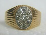 Vintage Russian Diamond 14k 583and039 Gold Ring Size 11.5