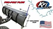 Kfi 72 Utv Poly Blade Snow Plow Kit For And03918-21 Can-am Maverick Trail 800 / 1000