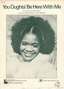 Annette Snell You Oughtaand039 Be Here With Me Sheet Music-1973-rare-new On Sale