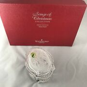 Waterford Crystal Songs Of Christmas Collection Music Box Silent Night Brand New