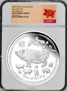 2019 Australia Lunar Year Of The Pig 1 Kilo Proof Silver 30 Coin Ngc Pf 69