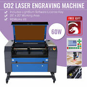 Omtech Upgraded Co2 Laser Engraver Cutting 60w 28x20with Lightburn Ruida