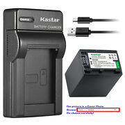 Kastar Battery Slim Charger For Sony Np-fh100 And Sony Dcr-sx40 Dcr-sx41 Dcr-sx50