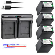 Kastar Battery Dual Charger For Sony Np-fh100 And Sony Dcr-sx40 Dcr-sx41 Dcr-sx50