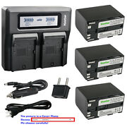Kastar Battery Dual Lcd Fast Charger For Canon Bp-970g And Xh-a1s Hd Xh-a1se Hdv