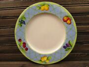 Fruit Rapture By Mikasa Dinner Plate Various Fruit Smooth Green Trim L77