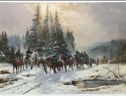 To Winter Quarters By Alan Fearnley Lithos-limtd Editions- Civil War Collectible