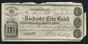 1848 109.21 The Rochester City Bank Certificate Deposite Rochester Ny