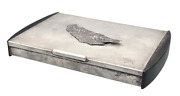Chinese Silver Cigar Box In Art Deco Style