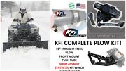 Kfi Yamaha Wolverine R-spec/se And03916-and03919 Plow Complete Kit 72 Poly Blade Assault