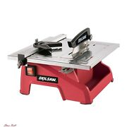 Floor Tile Saw Wet Manual Cutting Blade Machine Stand Ceramic Porcelain 7-inch