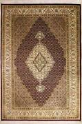 Rugstc 7x10 Senneh Pak Persian Red Area Rug Hand-knottedfloral With Wool Pile