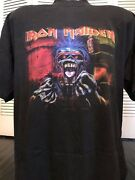 Rare Vintage 90and039s Iron Maiden Wired Shirt Size Xl Rock Metal