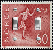 Norge Oslo 1966 Olympic Stamp Decorative Switch Plate Free Shipping
