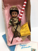 Madame Alexander 8 Black African American Boy Welcome Home Usa Army Doll And Flag