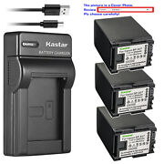 Kastar Battery Slim Charger For Canon Bp-827 Cg-800 Canon Vixia Hf M36 Camcorder