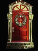 2018 1stfirst Christmas In Our New Home Red Door Ornamenteuropean Crystalsnib