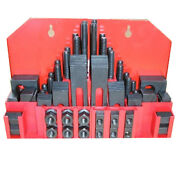 Metal Milling Machine Tool 1/2 Clamp Clamping Bolt T Nut Hold Down Kit 58 Sets