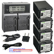 Kastar Battery Lcd Dual Fast Charger For Canon Bp-827 Cg-800 Canon Vixia Hf S11