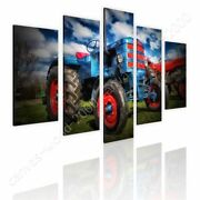 Tractor Agriculture By Split 5 Panels   Ready To Hang Canvas   5 Panels Wall Art