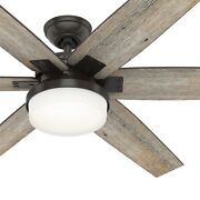 Hunter Fan 64 Inch Nobel Bronze Ceiling Fan With Light Kit And Remote 6 Blades