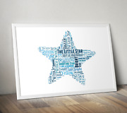 Personalised Star Word Art Print - Teacher Pupil Gift Idea - Add Your Own Words