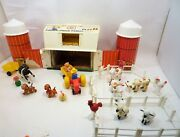 Vintage 1970-73 Fisher Price Little People Farm 915 With Extras