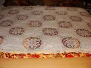 Hand Made Lace Victorian Tablecloth Dated 1903-1911 Padded Embroidery