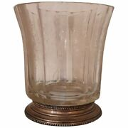 20th Century Italian Antique Art Nouveau Crystal And Silver Vase, 1920s
