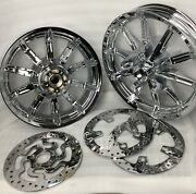 Harley Touring Impeller Chrome Wheels Rotors 2009-17 Street Glide Outright