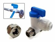 1/4od Push Fit Angle Stop Adapter Valve For 3/8 And 1/2 Under Sink Water Supply