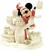 New Dept 56 Snowbabies Guest Look What We Have For Mickey Mouse Disney Christmas