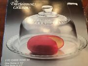 Vintage Luminarc 2 Piece Glass Cheese Or Butter Display Domeandplate Nib France