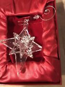 Waterford Crystal 2009 Snowstar Glass Christmas Tree Ornament Perfect W/box