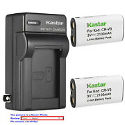 Kastar Battery Wall Charger For Canon Cr-v3 And Canon Powershot A60 A70 A75 A300