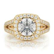 2 Ct D Vs1 Lab Grown Diamond Certified Engagement Ring Round Cut 14k Yellow Gold