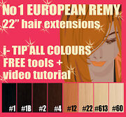 Micro Bead 22 European Remy Hair Extensions+free Tools| Top Quality I-tip