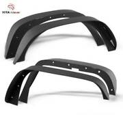 Yitamotor Fender Flares For 2007-2018 Jeep Wrangler Jk Flat Style Solid Steel
