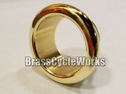 Brass Exhaust Tips For 2 Inch Pipes Pair Harley Rat Rod Bobber Chopper