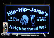 Personalized Lighted Sign, Custom Bar Sign, Man Cave Sign With Beer Mug
