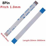 Ffc/fpc Flexible Flat Cable Pitch 1.0mm 8-pin 8p 80c 60v Vw-1 50mm-3000mm W 9mm