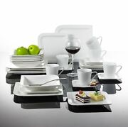 30-piece Coupe Dinner Set Crockery Dining Serving For 6 People Plates Bowls Mugs