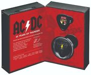 2018 Ac/dc - 45 Years Of Thunder - 5 Silver Triangular Proof Coin Australia