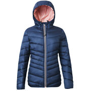Womenand039s Hooded Lightweight Water-resistant Padded Puffer Jacket