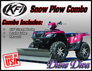 Kfi 60 Snow Plow Blade Mount Combo Kit Bombardier Quest, Traxster 500/650
