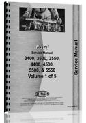 Ford 3400 3500 3550 4400 4500 5500 5550 Tlb Tractor Service Manual