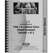 Ford 1100 2 And 4wd Diesel Compact Tractor Service Shop Manual