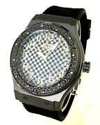 Men Casual Watch Ice Master Bm1320 Black Silicone Band, Silver Case 1 Atm