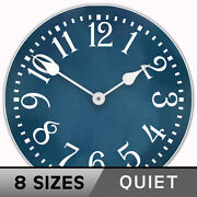 Colonial Blue Clock Large Wall Clock Ultra Quiet 8 Sizes Lifetime Warranty