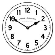 Telegraph Vintage Large Wall Clock Decor Handmade Battery Operated